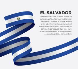 El Salvador flag for decorative.Vector background