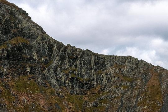 Climbers on Sharp Edge, Blencathra