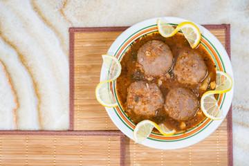Arabian Meat Balls In Gravy Sauce