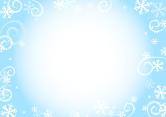 Winter snow background.