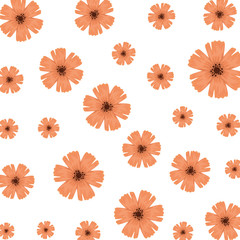 cute flowers decorative pattern