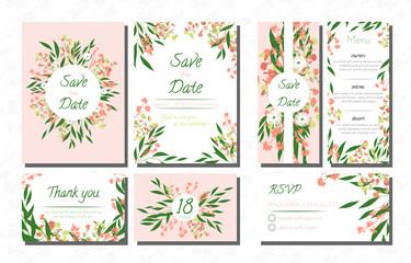 Wedding Invite with Eucalyptus.
