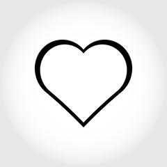 Heartbeat flat icon for medical apps and websites.