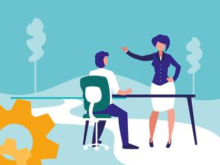 Corporate businesspeople design