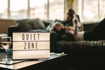 Quiet zone inside a home Wall mural