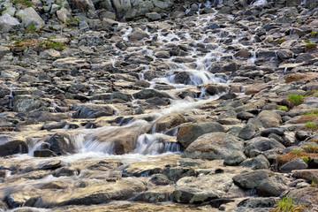 Running water of mountain stream