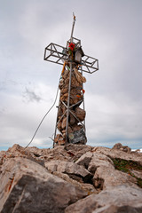 Cross of the summit of the southern Mount Grigna.