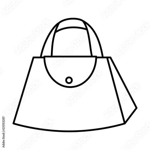 fashion feminine handbag icon