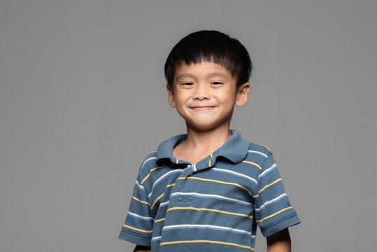 portrait of a happy asia boy