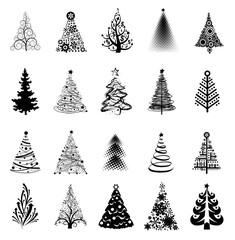 Modern Ornate pine trees