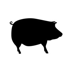 pork silhouette isolated icon
