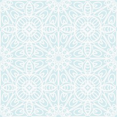 Floral Geometric Pattern with hand-drawing ornament. Vector super illustration. For fabric, textile, bandana, scarg, colored print