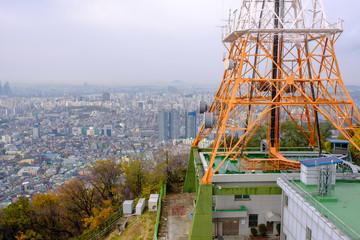 communication pole on the mountain