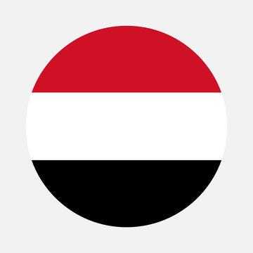 Yemen flag circle