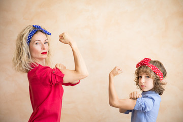 We can do it! Woman's day concept