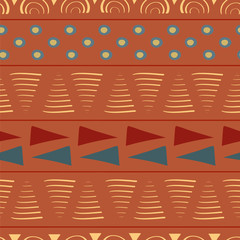 Vibrant tribal triangles and circles