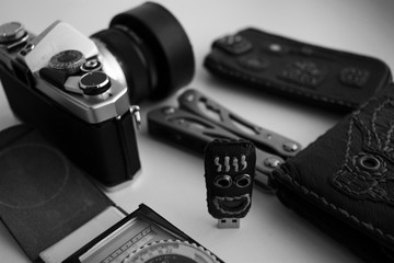 Film vintage camera and flash drive