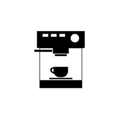 Coffee machine icon vector, filled flat sign, solid pictogram isolated on white. Symbol, logo illustration.