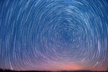 movement of stars in the sky