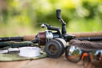 fishing rod. fishing reel. fishing tackle.