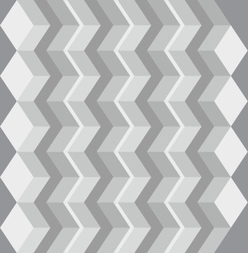 Diamonds ordered in a zigzag pattern to create an optical illusion.