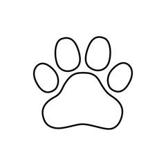 Logo paw. Logo animals. The trail legs of the animal