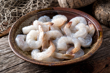 Raw Pacific White Shrimp