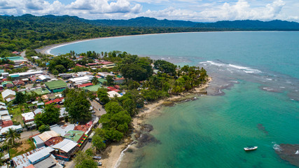 Aerial View from Puerto Viejo in Costa Rica at the Caribbean