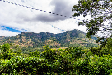 view of Guatemalan mountains