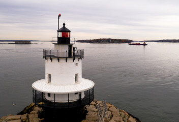 Spring Point Ledge Light Sparkplug Lighthouse Beacon Harbor Portland Maine