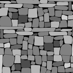 Stone rock wall background. Vector