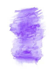 Purple watercolour vertical gradient background painted on the special watercolor paper. Good resolution.