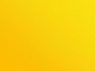 Comic book orange background, halftone dots texture. Retro pop art style