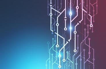 Fotobehang - Abstract circuit interface mock up