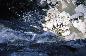 Canyoning expedition (France)