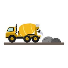 Construction cemet truck