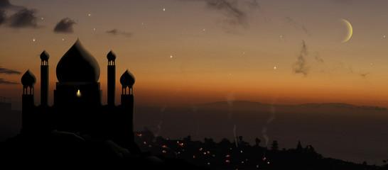 aladdin palace at sunset Fototapete