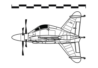 Convair XFY-1 POGO. Outline drawing