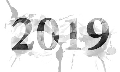 2019 with a collage of monochrome roses_by jziprian