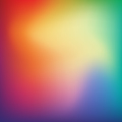 Abstract blurred gradient mesh background in bright rainbow colors. Colorful smooth banner template. Easy editable soft colored vector illustration. Mesh gradient
