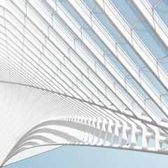 Modern architecture shapes