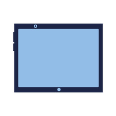 tablet computer gadget on white background