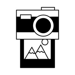 photography camera picture on white background