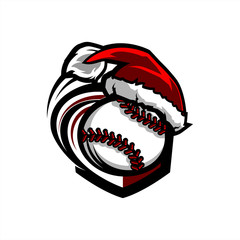 Baseball Santa Badge