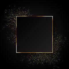 Fototapeta Elegant gold glitter background obraz