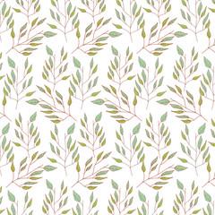 cute leafs pattern background