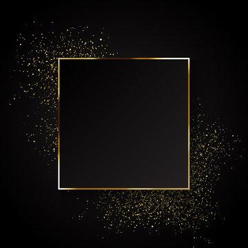Elegant gold glitter background
