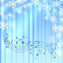クリスマス 譜面 音楽 五線譜 ツリー クリスマス背景 雪 雪片 結晶 イルミネーション
