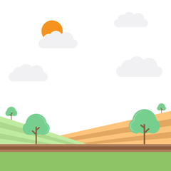 Agricultural field vector illustration