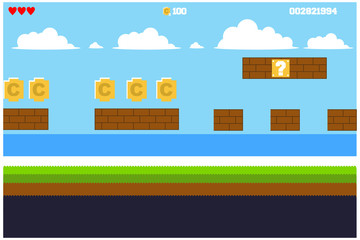 game background illustration, vector illustration